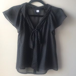 H&M Polka dot top with Pussy Bow